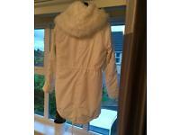 Topshop parka style coat, size 10