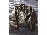 Age 9 leather look jacket