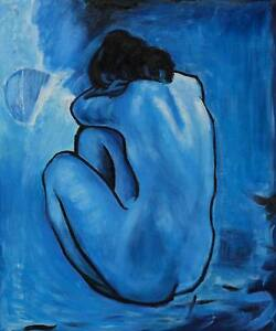 Repro-20-x24-Hand-Painted-Pablo-Picasso-Oil-Paintings-Blue-Nude