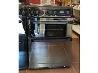60cm Hotpoint Ceramic Cooker, Double Oven (Fan Assisted) / Grill - 6 Months Warranty