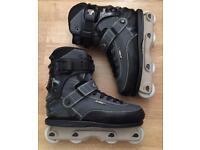 Barely used UK 10.5 Seba CJ Wellsmore aggressive skates / rollerblades. Literally worn 4 times