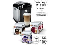 Tassimo Vivy 2 Coffee Machine with 6 Packs of Pods (Brand New + Sealed)
