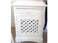 Matching pair white painted bedside cabinets in VGC