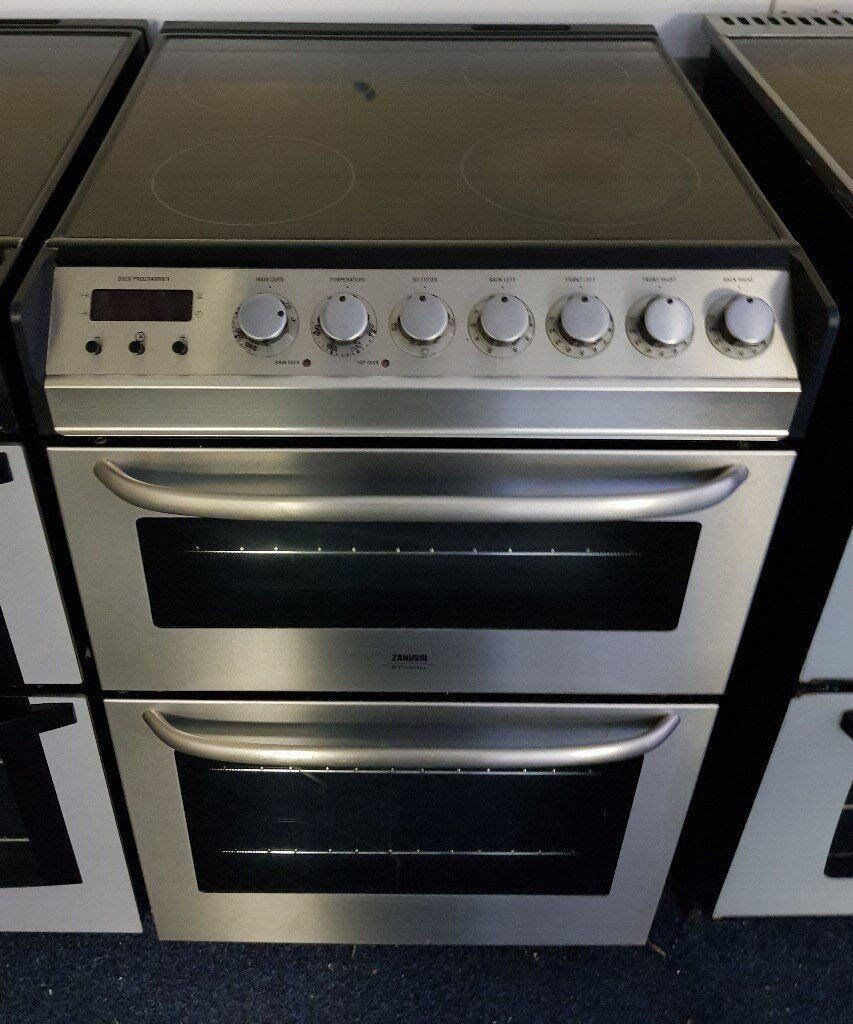Zanussi Stainless Steel 55cm Ceramic Cooker - 12 Months Warranty - £180