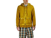 True Religion Coated Moto Hoodie Yellow/Gold Hooded