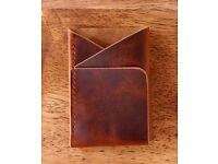 Ink Leaf Slim Double Cross Leather Wallet