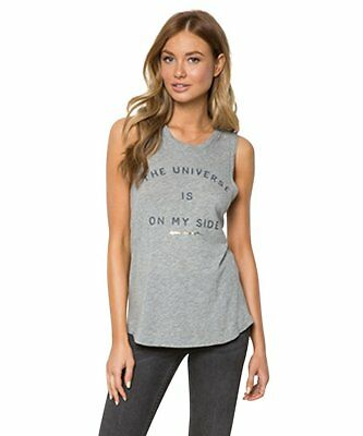 Women Mobster ( Spiritual Gangster Women's The Universe Is On My Side muscle Gray Tank Top new)