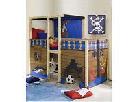 Thuka solid pine kids pirate mid sleeper bed