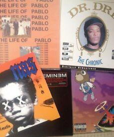 Hip Hop job lot vinyl, 5 records life of pablo graduation the chronic Nas illmatic XX Eminem single