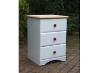 Small - Shabby Chic - Pine Chest of Drawers - Bedside Drawers