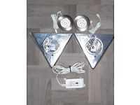 2 x Triangle Lamona Low Voltage LED Kitchen Lights.
