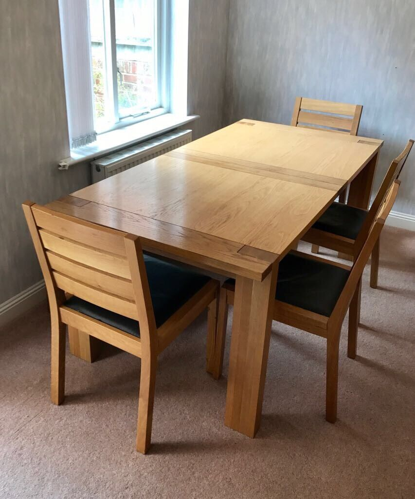 m s sonoma oak extending dining table 4 chairs bench in wimborne dorset gumtree. Black Bedroom Furniture Sets. Home Design Ideas