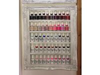 Nail salon display shelves/ acrylic/gel/powders