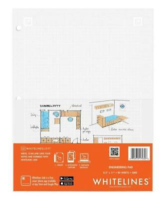 "Whitelines Engineering Computation Pad 8.5""x11"", 80 Sheets: Roaring Spring 17030"