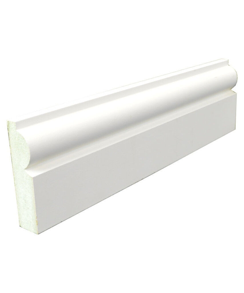 White Primed MDF Architrave - 18x69mm Torus (2 Pieces)