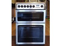 60cm Hotpoint Ceramic Cooker, Double Oven (Fan Assisted) /Grill - 6 Months Warranty