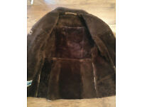 Real Luxurious Ladies Sheepskin Coat - size 12