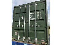 Green 20' Shipping Container