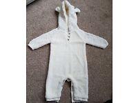 Next Cream Fleece Baby Snowsuit - Size 3-6 Months