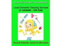 Domestic Cleaner - Housekeeper - House Cleaning - Domestic Cleaning Services in Leicester