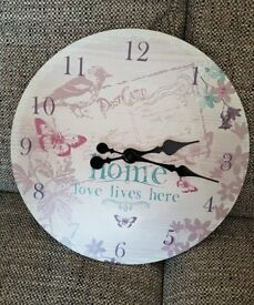 Home Wall Clock + Free noticeboard