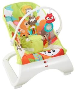 NEW Fisher-Price Comfort Curve Bouncer, Woodland Friends