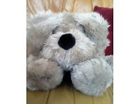 BHS lying down dog soft toy