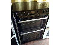 Black Belling Format 60cm double electric cooker