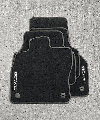 2013 Doppelziernaht Fußmatten für Skoda Octavia 3 Typ 5E ab Bj