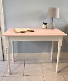 Shabby chic pale pink hall table or desk