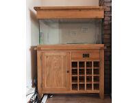 Madienhead Aquatics Aqua Oak Aquarium Cabinet and Tank