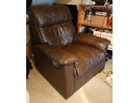 Brown Faux Leather Recliner Chair