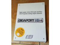 ESI Gigaport HD+ USB audio interface, boxed as new