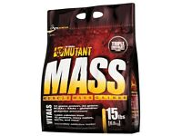 NEW AND SEALED. MUTANT MASS WEIGHT GAIN 15LBS 6.8KG TRIPLE CHOCOLATE