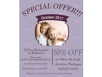 50% OFF on Silver & Gold sessions packages booked for October 2016!!! Don't miss out!!!