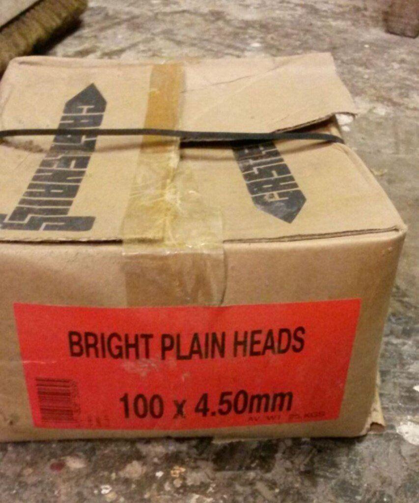 Bright round wire nails 100 x 4.5mm