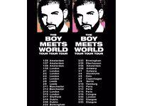 2 SEATED DRAKE BOY MEETS WORLD TOUR TICKETS SSE HYDRO ARENA GLASGOW