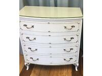 French Louis chest of drawers.