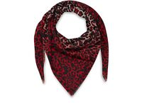 Rare New McQ Alexander McQueen Scarf in Red & White Animal Print - RRP £325!!!!!