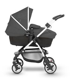 Silver Cross wayfarer pram and pushchair - onyx, includes hood & apron and reversible seat liner