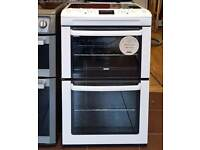 55cm Refurbished Zanussi Ceramic Cooker, Fan Assisted Oven / Grilll - 6 Months Warranty