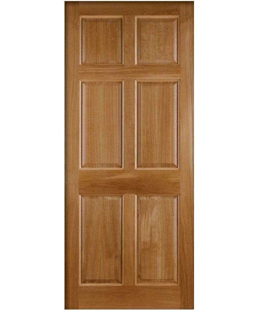 """New Front / Back external door. 32"""" 'Colonial' Hardwood veneer with raised mouldings."""