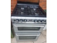 neworld gas cooker,silver/grey,glass top,only 6 months old, cost £469 new, bargain £150