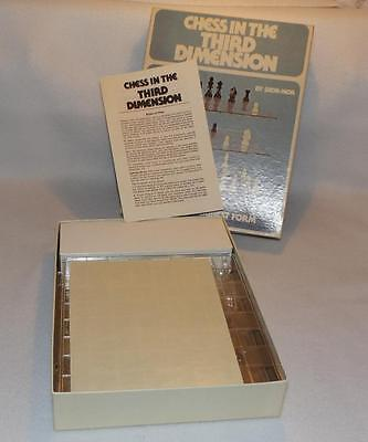 Vintage 1976 Skor-mor Complete 3D Chess In The Third Dimension Space Game