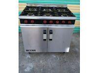 M LINE PLUS Dominator 6 Burner COOKER LPG Range Commercial Cooker Large Oven free delivery