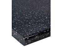 Black Sparkle Kitchen Worktops, Brand New, For top of units, suit any door styles.