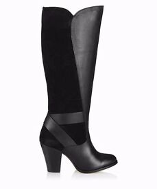New Lacey's London Theora black leather boots