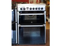 60cm Indesit Ceramic Cooker, Fan Assisted Oven / Grilll - 6 Months Warranty