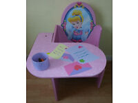 Child's Disney princess desk/table, with storage, 2-5 years, £15 ONO