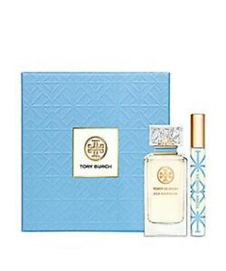 Tory Burch Jolie Fleur Bleue 2pc Gift Set for Women - 3.4 oz EDP Spray + .2 oz Rollerball